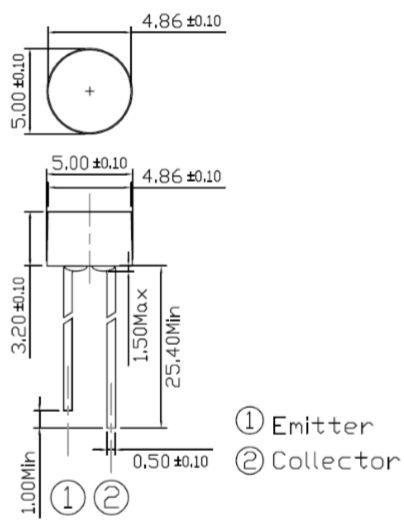 光敏管PDT尺寸圖