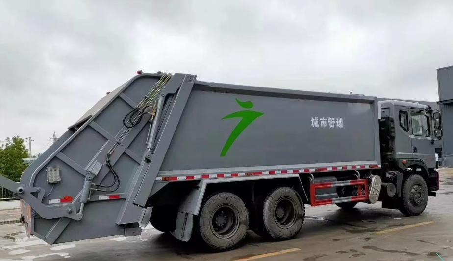 东风T5后双桥压缩垃圾车4