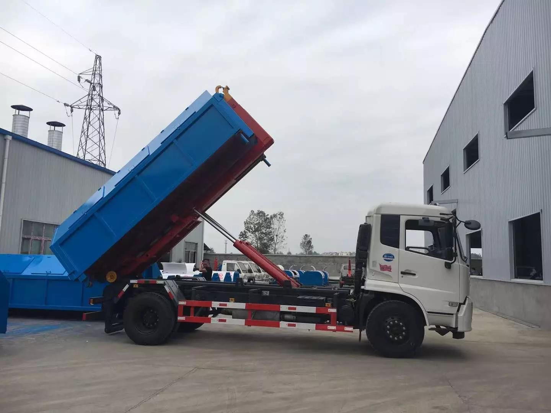 东风天锦国六钩臂垃圾车2