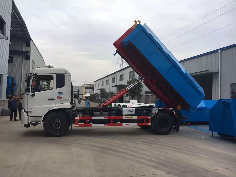 东风天锦国六钩臂垃圾车3