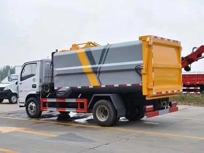 5方东风小多利卡自装卸挂桶垃圾车4