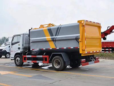 5方东风小多利卡自装卸挂桶垃圾车7