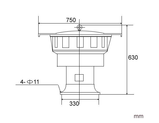 LK-JDL480 Electric siren size