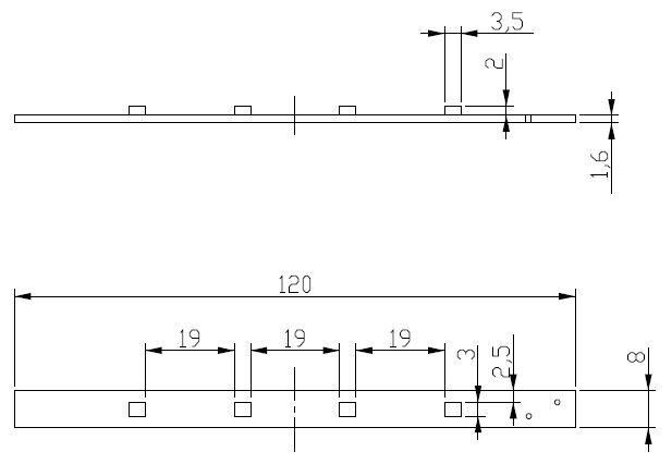LED灯板尺寸图