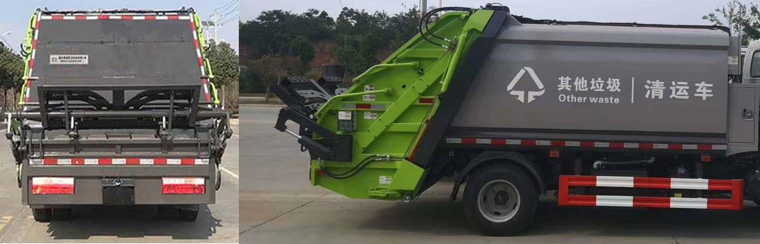东风多利卡4立方5立方压缩垃圾车3
