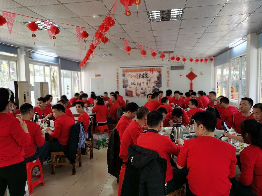 深圳某公司在乐水山庄体验特色农家菜