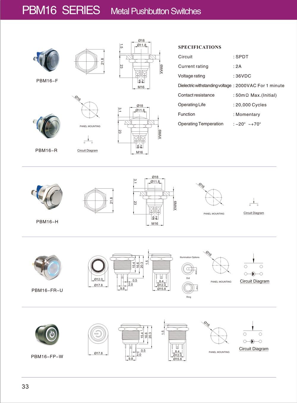 短款金属按钮开关厂商定制