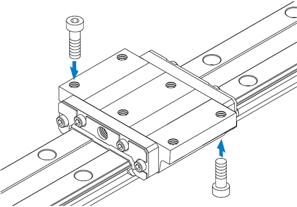 HRW-CA型宽体导轨滑块