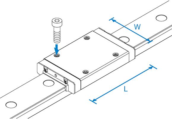 RSR-WN微型导轨滑块