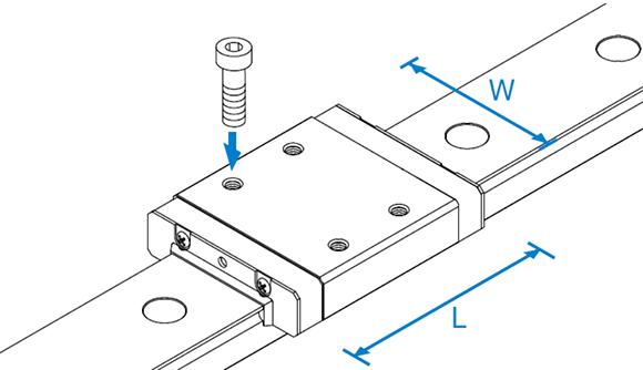 RSR-M1W、M1WV型高温用导轨滑块