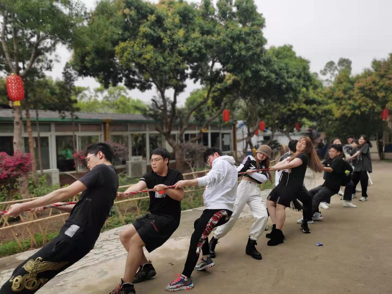 深圳农家乐-乐水山庄趣味拔河