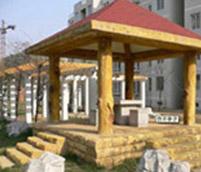 木雕景觀較真生産過程綠色環保