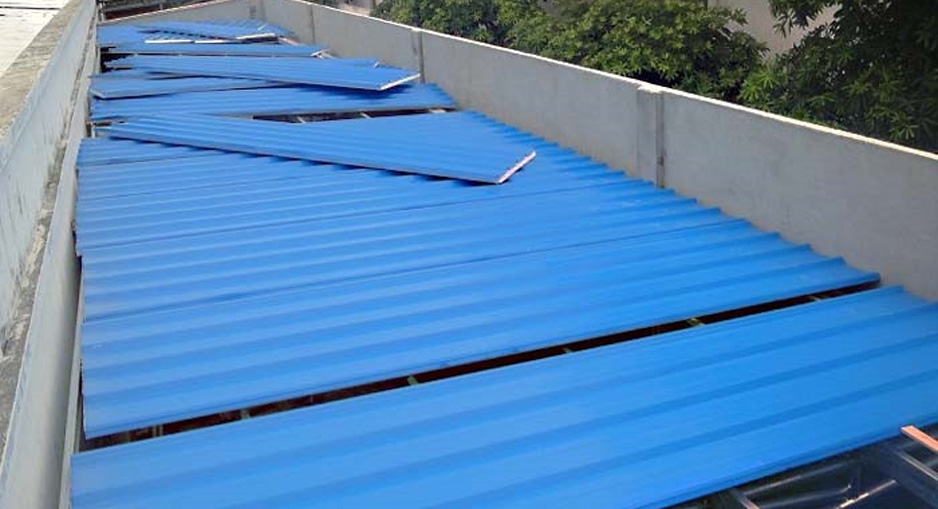 彩钢瓦钢棚搭建防水