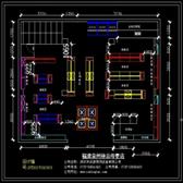 江西药店货架设计平面图