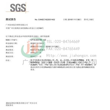 SGS通標公司ROSH十項檢測報告(中文版)