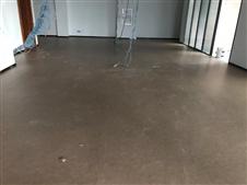 渝北某停车库PVC地胶板施工现场