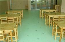 某幼儿园PVC地板施工现场