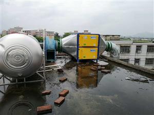 揭阳普宁20000风量油烟净化器工程