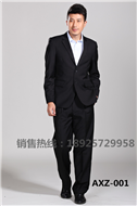 男式商务西服修身高档职业西装套装男两件套定制职业正装黑色礼服