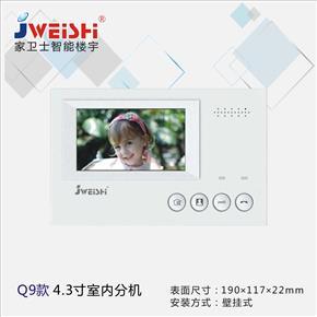 Q9款4.3寸室內分機