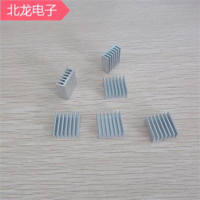 铝合金散热器14*14*4mm 白色无针散热器 电子元器件散热片 可定制
