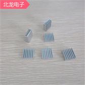 鋁合金散熱器14*14*4mm 白色無針散熱器 電子元器件散熱片 可定制