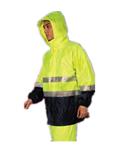 3M R2912 荧光黄拼色PVC防水安全 警示服