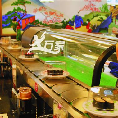 新款不锈钢链条回转寿司设备