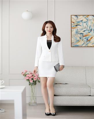 職業裝女裝時尚套裝酒店工作服女士氣質正裝修身西裝套裙
