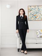 职业套装女装西服正装两件套黑色小西装春秋女裤修身套装