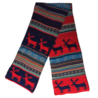 Aiviai Christmas Reindeer Style Scarf for Women