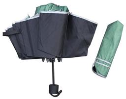 素色包邊晴雨兩用折疊廣告傘 -1290