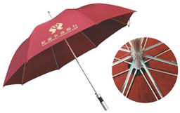 铝中杆直柄广告伞 -1290