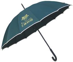 素色包边橡胶弯柄广告伞 -1290