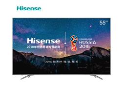 海信(Hisense)LED55EC750US 55英寸 超高清4K HDR 人工智能 智慧语音 VIDAA4.0系统 (子夜黑)