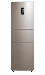 美的(Midea) BCD-228WTPZM(E) 228升 变频风冷智能 日耗电0.6度 中门21档调温三门冰箱 (APP远程控制) 爵士棕