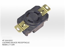 美式工业插座NEMA L17-30R