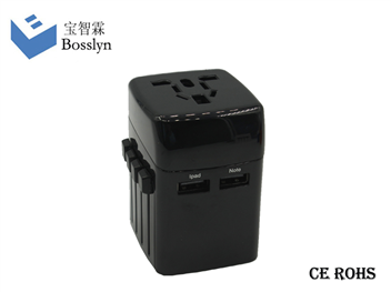 全球通旅行转换插头2100mA 带USB输出931L-A10