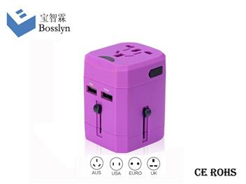2015年新款带USB充电功能高端全球通用旅行转换插头