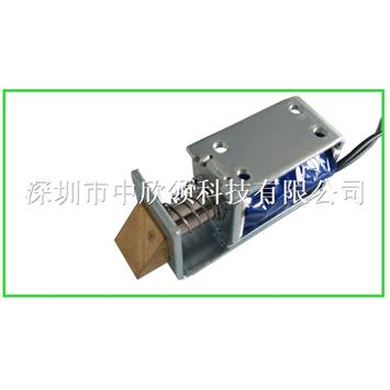方形电磁铁锁HIO-0730L-5V5欧锁 框架尺寸:43*22*16mm
