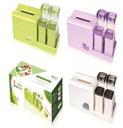 餐桌紙巾盒組合套裝(2調2瓶)-1336