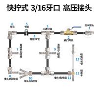 快拧式 高压接头3/16牙口高压PE管