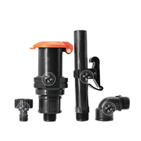 6分塑料螺纹快速取水阀插杆式取水器