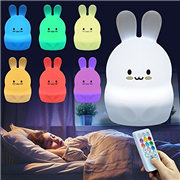 Cute Rabbit LED Silicone Night Light