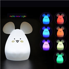 Multicolor Tap Control Silicone Baby Night Light