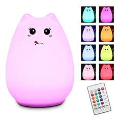 kitty LED Silicone Night Light