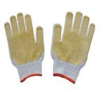 黄色点珠劳保手套本白色