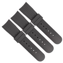 611 硅胶弯头表带 加头粒高质量表带 钟表配件表带厂家直销