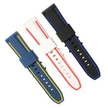672硅胶表带 双色表带平头硅胶带 深圳表带厂钟表配件厂家直销批发