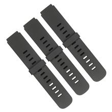 632通用款黑色硅胶手表带厂家直销定做批发。